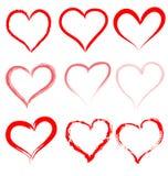 Coleção de corações do vetor. Foto de Stock