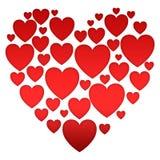 Coleção de corações pequenos ilustração royalty free