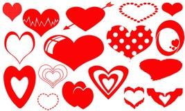 Coleção de corações vermelhos Imagem de Stock