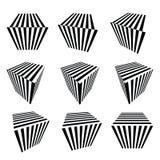 Coleção de cubos abstratos Imagem de Stock