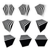 Coleção de cubos do split Imagens de Stock