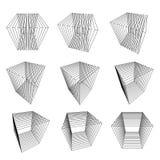 Coleção de cubos do split Imagem de Stock Royalty Free
