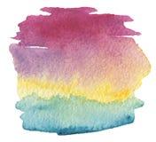A coleção de cursos acrílicos abstratos da escova da cor borra Fotos de Stock