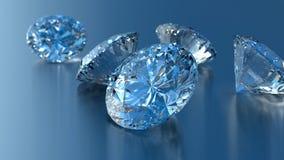 Coleção de diamantes brilhantes Fotografia de Stock