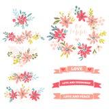 Coleção de divisores da flor Imagens de Stock Royalty Free