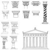 Coleção de elementos arquitectónicos Fotos de Stock Royalty Free