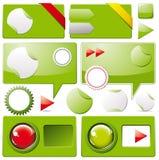 Coleção de elementos coloridos do Web Foto de Stock