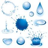 Coleção de elementos da água. ilustração royalty free