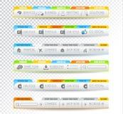 Coleção de elementos da Web - vários moldes Fotografia de Stock
