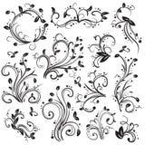 Coleção de elementos decorativos ilustração royalty free