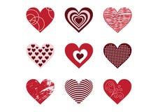 Coleção de elementos do coração Fotografia de Stock