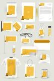 Coleção de elementos do projeto para o negócio, a propaganda ou o visualização da identidade corporativa Fotografia de Stock