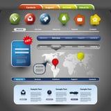 Coleção de elementos do Web site Imagens de Stock Royalty Free