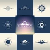 Coleção de elementos elegantes do ornamento, símbolos Imagem de Stock Royalty Free