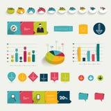 Coleção de elementos infographic lisos coloridos. Imagem de Stock