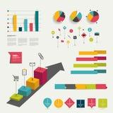 Coleção de elementos infographic lisos coloridos. Foto de Stock