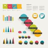 Coleção de elementos infographic lisos coloridos. Foto de Stock Royalty Free