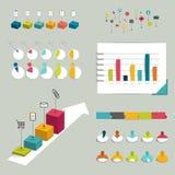 Coleção de elementos infographic lisos coloridos. Imagens de Stock