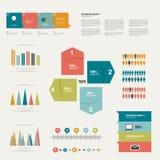 Coleção de elementos lisos do infographics. Fotos de Stock