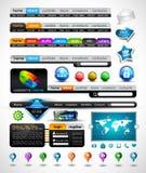Coleção de encabeçamentos modernos do Web do estilo Imagem de Stock Royalty Free