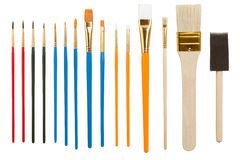 Coleção de escovas de pintura Foto de Stock