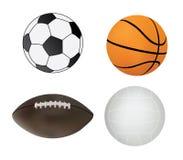 Coleção de esferas do esporte Foto de Stock Royalty Free