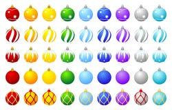 Coleção de esferas do Natal Fotografia de Stock