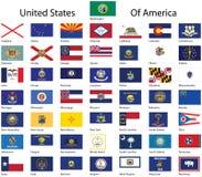 Coleção de Estados Unidos da América. Imagens de Stock