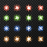 Coleção de estrelas coloridas Imagem de Stock