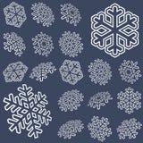 coleção de estrelas da neve Imagem de Stock Royalty Free