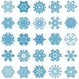 coleção de estrelas da neve Fotografia de Stock