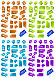Coleção de etiquetas coloridos do mercado. Fotografia de Stock