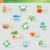 Coleção de etiquetas da dieta e de símbolos do alimento. Fotos de Stock