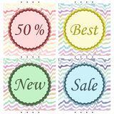 Coleção de etiquetas da venda Fotografia de Stock