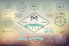 Coleção de etiquetas, de crachás e de logotipos do vintage Imagem de Stock Royalty Free