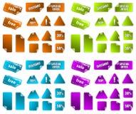 Coleção de etiquetas do mercado da promoção. Foto de Stock