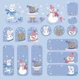 Coleção de etiquetas do presente e de moldes dos cartões Imagens de Stock Royalty Free