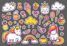 Coleção de etiquetas mágicas ilustração royalty free