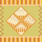 Coleção de etiquetas quadradas com ornamento Foto de Stock Royalty Free