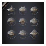 Coleção de etiquetas superiores da qualidade. ilustração royalty free