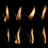 Coleção de fósforos ardentes Fotografia de Stock Royalty Free
