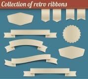 Coleção de fitas retros e de Tag do vetor Fotos de Stock Royalty Free