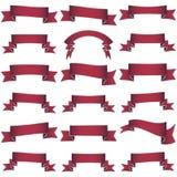 Coleção de fitas vermelhas Fotos de Stock Royalty Free