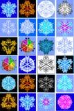 Coleção de flocos da neve Imagens de Stock Royalty Free