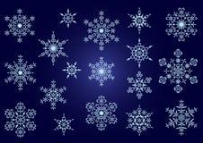 Coleção de flocos de neve do vetor Fotografia de Stock
