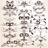 Coleção de flourishes decorativos do vetor para o projeto ilustração do vetor