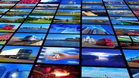 Coleção de fotos coloridas ilustração stock