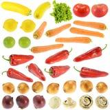 Coleção de frutas e legumes frescas Fotografia de Stock Royalty Free