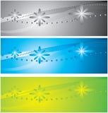A coleção de fundos coloridos Imagens de Stock