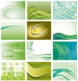 Coleção de fundos verdes Fotos de Stock